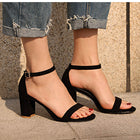 Corachic.com - Chunky Heel Women Ankle Strap Gladiator Sandals - Women's Sandals