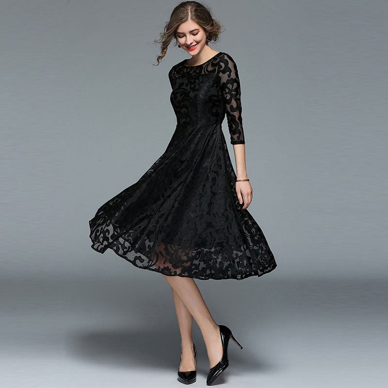 Fashion England Style Luxury Elegant Slim Ladies Party Dress