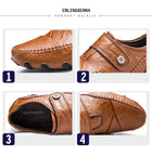 Men's British Style Moccasins Genuine Leather Loafers Flats Shoes