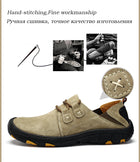 Men's Comfort Genuine Leather Loafers Shoes Suede Breathable Walking Shoes