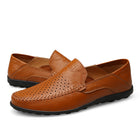 Mens Genuine Leather Loafers Moccasins Comfy Breathable Slip On Boat Shoes