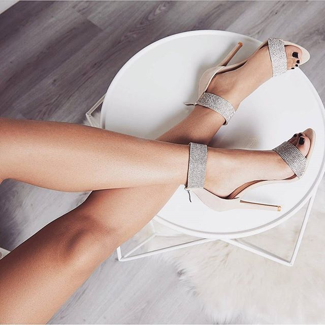 Women Rome Style Heeled Sandals Glitter Crystal Open Toe Zipper Shoes