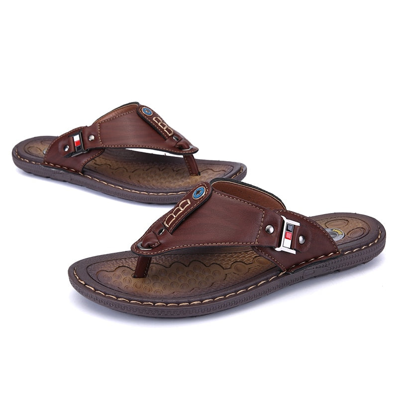 Summer Men's Flip Flops Beach Sandals Non-slide Slippers Shoes