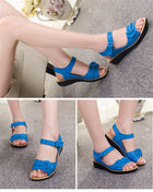 Women Vintage Flat Gladiator Sandals Platforms Shoes