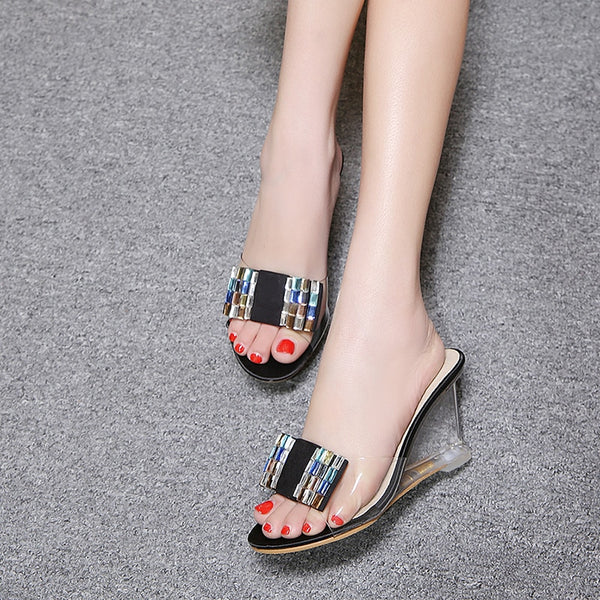 Women High Heels Slippers Sandals Wedges Platform Mules Sandal Shoes