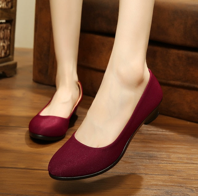 Women Wedges Sweet Loafers Slip On Casual Flats