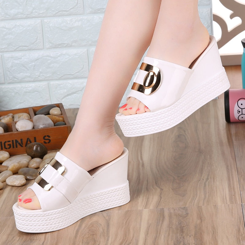 Women Platform Wedges Sandals Fashion High Heels Sandal Slippers Shoes
