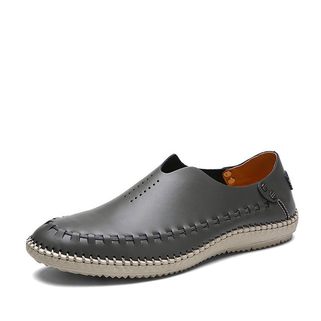 Men's Genuine Leather Flats Moccasins Loafers Driving Shoes