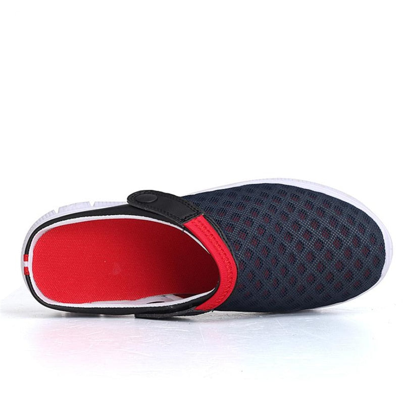 Men's Summer Mesh Breathable Padded Beach Flip Flops Sandals Shoes