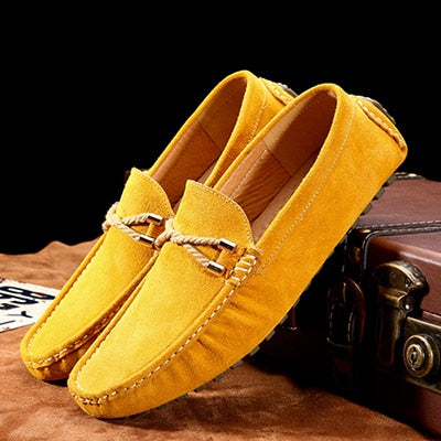 Summer Genuine Leather Men Shoes Casual Driving Shoes Mocassin Soft Breathable