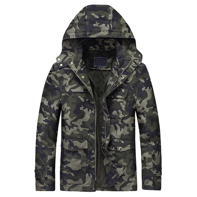 Men Camouflage Thick Casual Outerwear Windbreakers Army Tactical Military Jackets