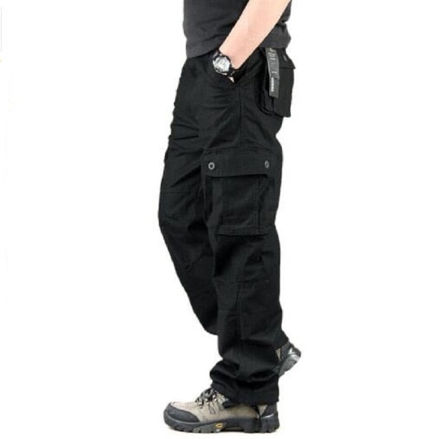Men's Cargo Pants Casual Multi Pockets Military Tactical Pants Streetwear Army Straight Slacks Long Trousers Clothes
