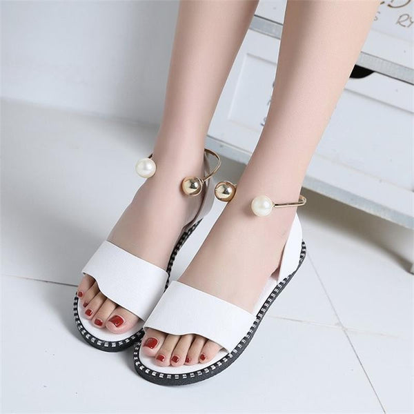 Corachic.com - Women Rome Slip-On Breathable Non-slip Slides Solid Casual Sandals Shoes