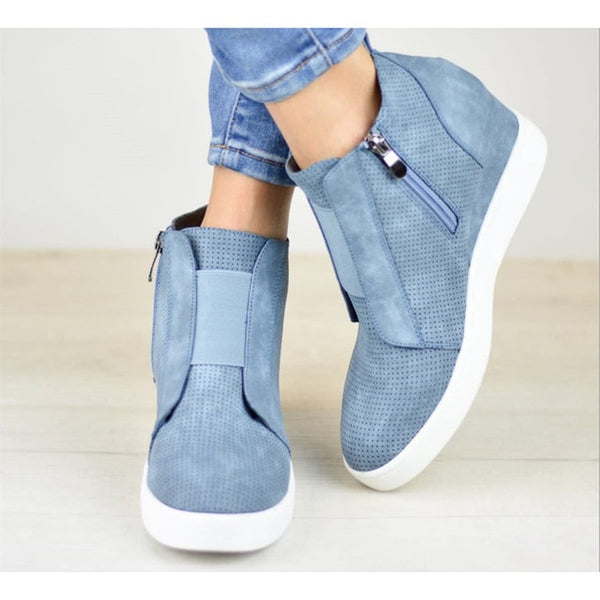 Chic Wedges Ankle Boots For Women Casual Platform Shoes Woman Plus Size Boots