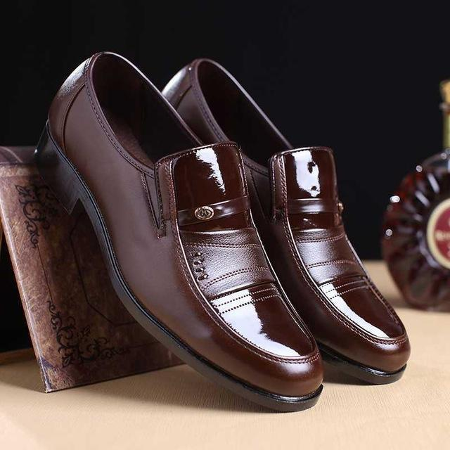 Men Dress Shoes Leather Slip On Round Toe New Arrival Oxford Shoes