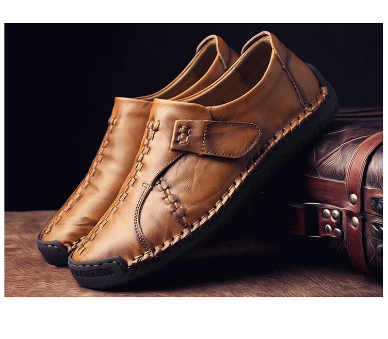 Men's Genuine Leather Flats Shoes Loafers Moccasin Slip On Sneakers Shoes
