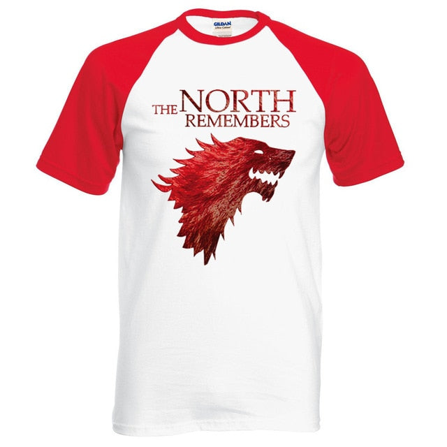 The North Remembers 100% Cotton Men¡®s Raglan T-shirts Tee Tops Tees