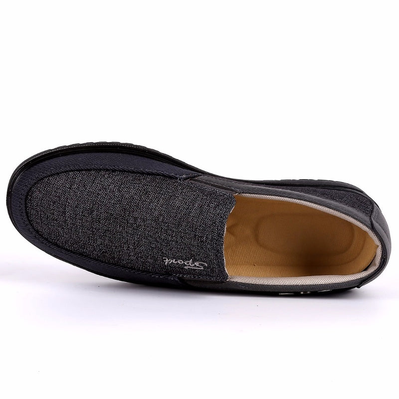 Men's Comfortable Casual Shoes Canvas Flat Loafers Shoes