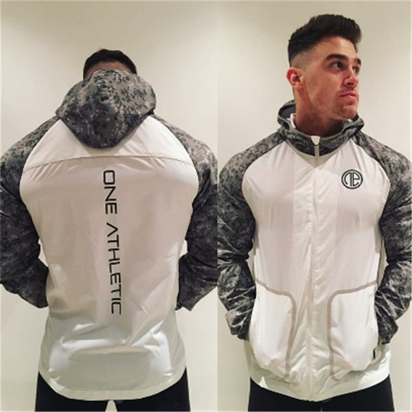 Men fashion patchwork fitness thin coat fast dry loose long sleeve stretch jacket