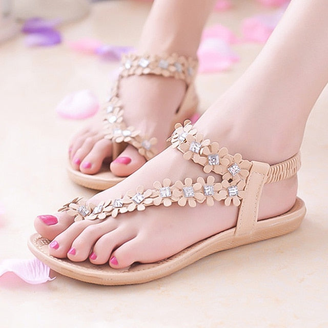 Corachic.com - Women Summer Style Bling Bowtie Peep Toe Jelly Sandal Flat Shoes - Women's Sandals