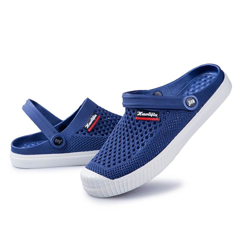 Men's Summer Mesh Sandals Beach Footwear Flip Flops Shoes