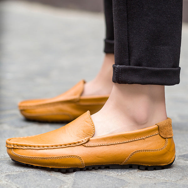 Men's Genuine Leather Loafer Casual Driving Shoes Moccasins Slip on Shoes