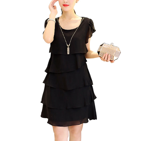 Women Chiffon Dress Plus Size Dresses 5XL Ladies Elegant Female