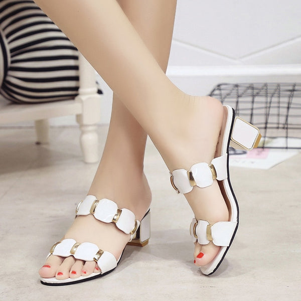 Designer Crystal Sandals Women Classic Shiny Open Toe High Heels Sandals