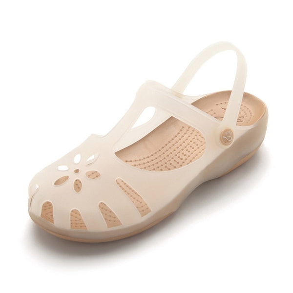 Summer Women Mules Clogs Beach Breathable Sandals Slippers Jelly Shoes