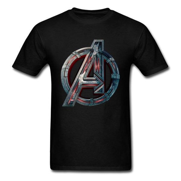 Cool Men's Infinity Symbol T-shirt 3D Metal Print Tops Tee