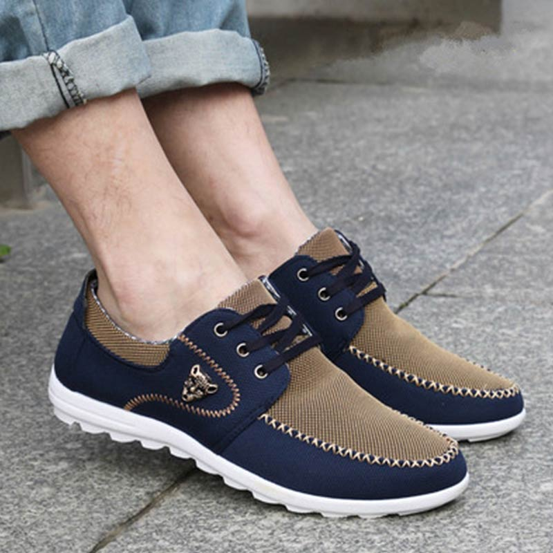Men Leather Flats Lace-up Driving Formal Dress Casual Sneakers Shoes