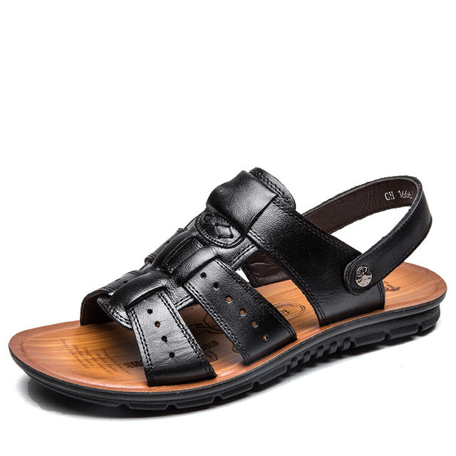 Men Sandals Summer Leather Shoes Casual Slippers Sneakers Summer Shoes Flip Flops