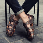 Men's Comfortable Casual Sandals Loafers High Quality Genuine Leather Flats Shoes