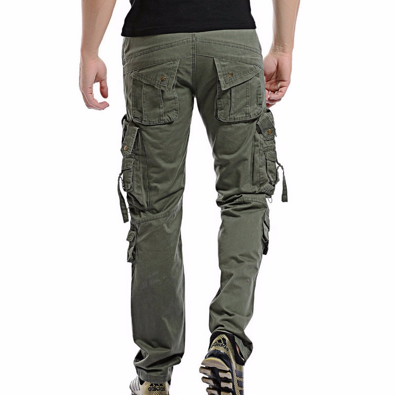 Men Cargo Pant Casual Men Multi-Pocket Overall Combat Cotton Trousers Army Casual joggers pants