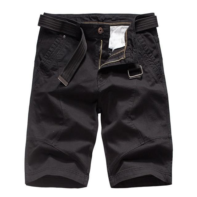 Men's Summer Cargo Shorts Cotton Loose Military Tactical Shorts (No Belt)