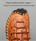 Men's PU Leather Sandals Roman Beach Sandals Shoes