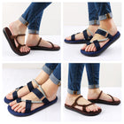 Men's Beach Gladiator Sandals Hombre Summer Shoes Hook&loop Casual Shoes