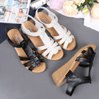 Classic Genuine Leather Wedges Sandals Gladiator Female Platform Sandals