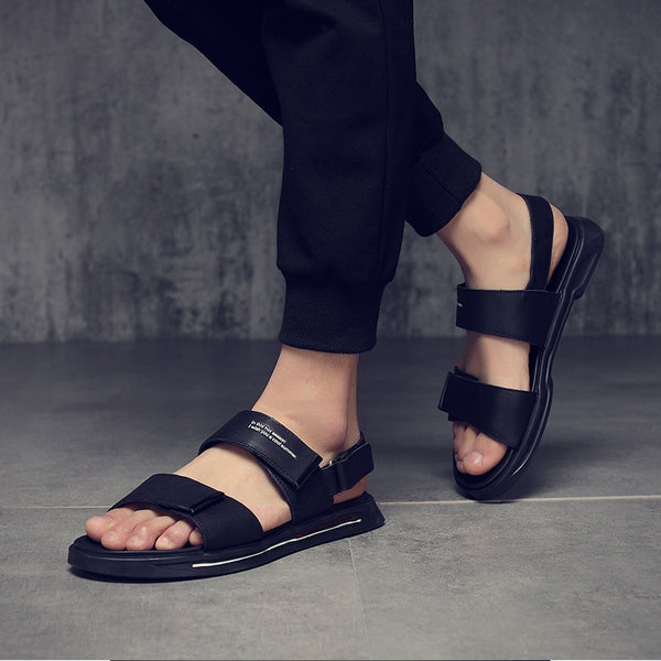 Men's Cow Genuine Leather Sandals Shoes Summer Beach Sandals