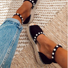 Women's Summer Sweet Pearl Platform Wedges Sandals Comfort Fish Mouth Weave Shoes