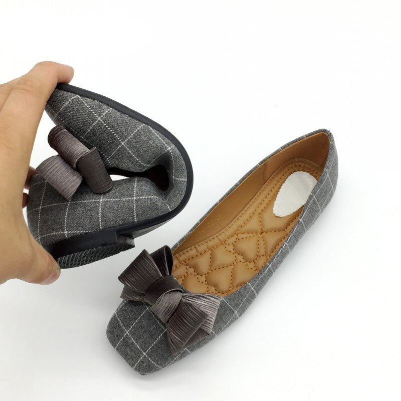 Women Slip On Square Toe Flats Shoes