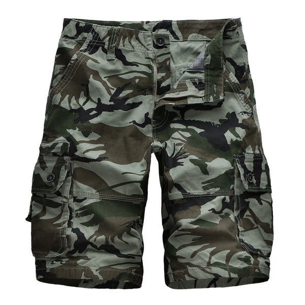 Men's Camouflage Cargo Shorts Summer Casual Loose Beach Vacation Shorts