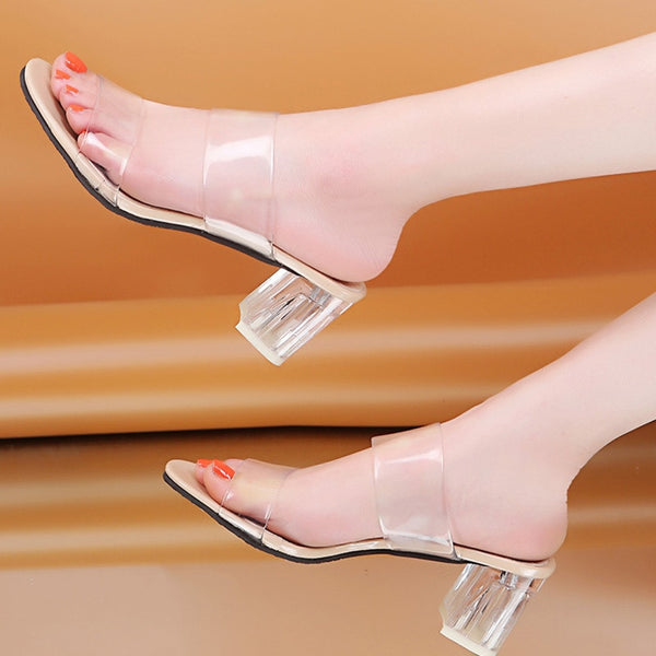 Woman Transparent Shoes High Heels Pumps Wedding Jelly Sandals
