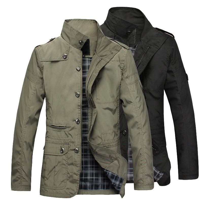 Fashion Thin Men's Jackets Hot Sell Casual Wear Comfort Windbreaker Autumn Overcoat Necessary Spring Men Coat