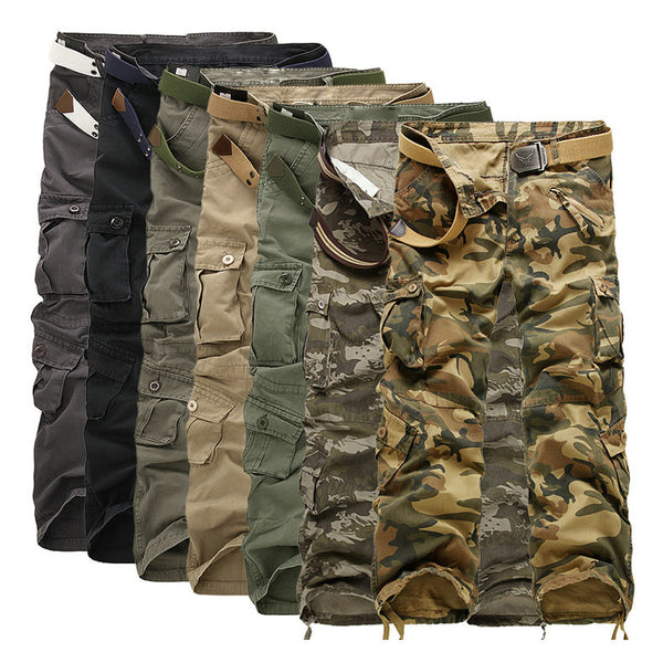 Men Cotton Cargo Pants Men Military Style Tactical Workout Straight Men Trousers Casual Camouflage Man Pants