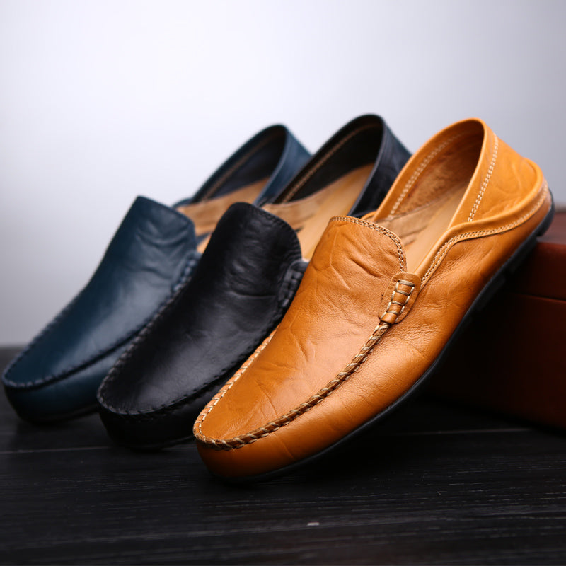 Men's Genuine Leather Loafers Casual Flat Shoes