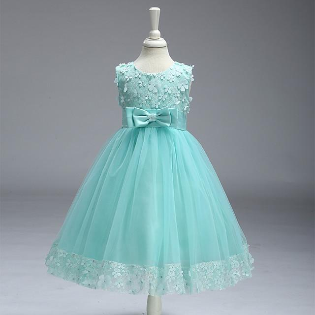 Baby Girls Embroideries Lace Flower Tutu Tulle Formal Birthday Party Gown Princess White Dresses