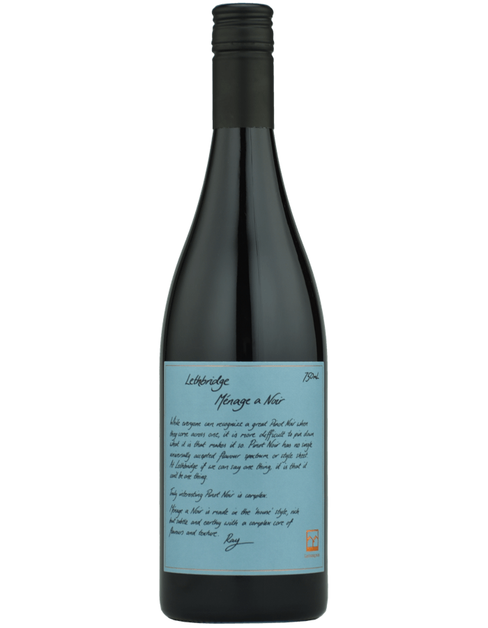 2017 Lethbridge Menage a Noir Pinot Noir
