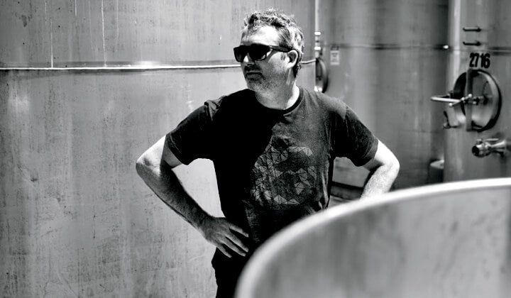 Dave Bro at home in the winery