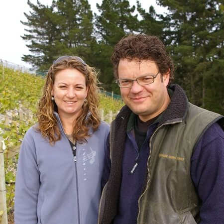 Wine growers Marcel Giesen and Sherwyn Veldhuizen